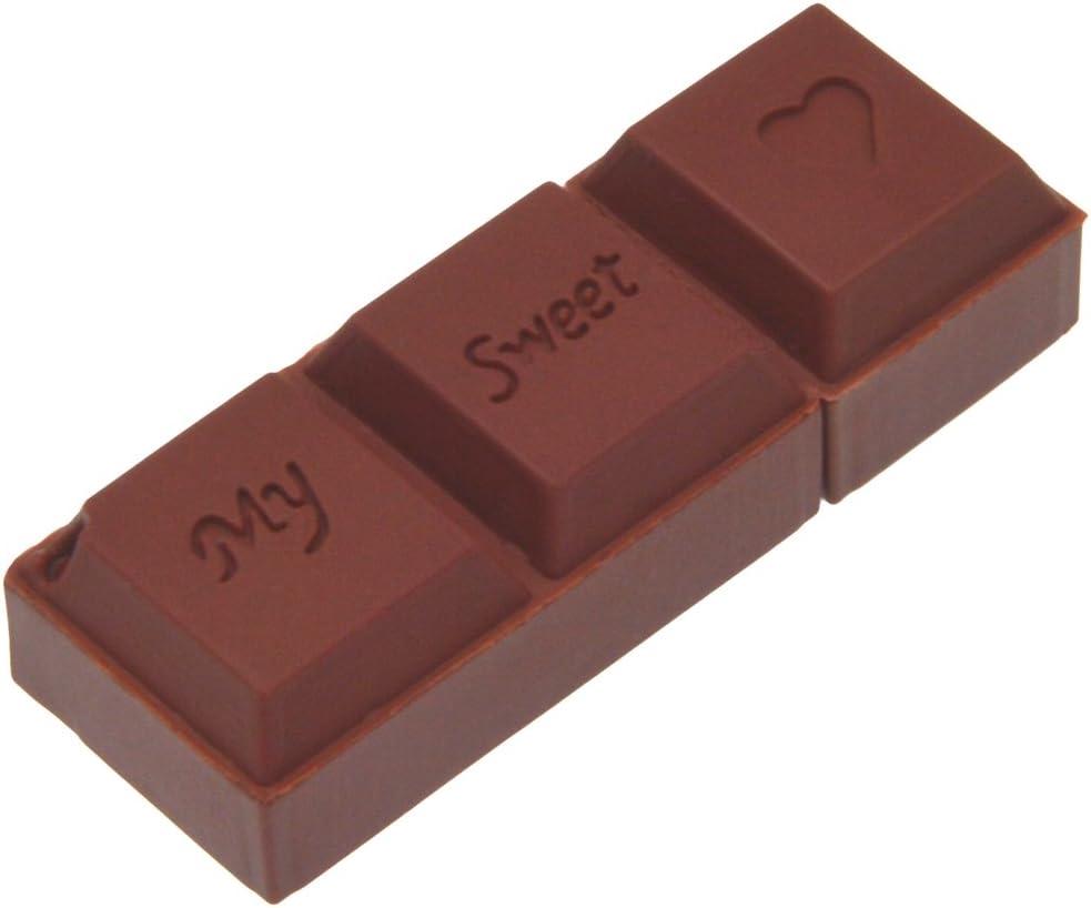 Uflatek Memoria USB 3.0 de 64 GB Chocolate Diseño U Disco Portátil Pendrive Marrón Memory Stick Almacenamiento para Regalo