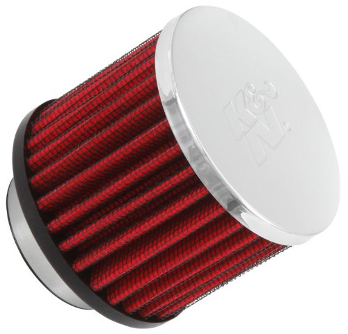 K&N 62-1460 Vent Air Filter / Breather: Vent Air Filter/ Breather; 1.5 in (38 mm) Flange ID; 2.5 in (64 mm) Height; 3 in (76 mm) Base; 3 in (76 mm) (38mm Flange)