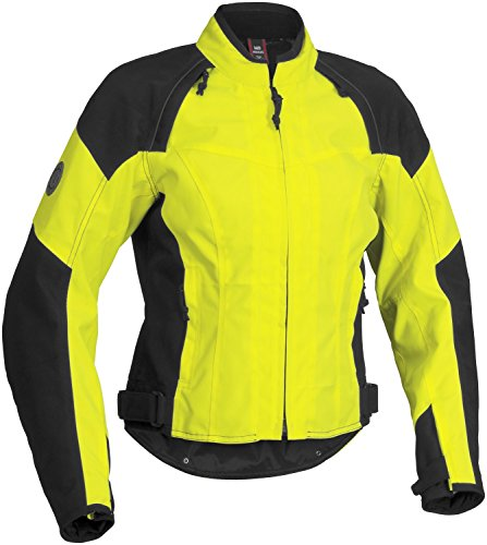 FirstGear Contour Tex Women's Textile Street Racing Motorcycle Jacket - DayGlo/Black / X-Large
