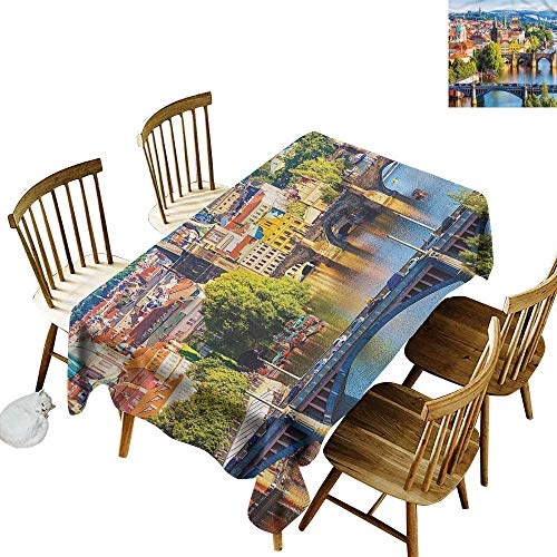 Spill-Proof Table Cover Wanderlust Charles Bridge in Prague Table Cover for Dining 60