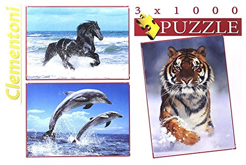 Assorted Animals Set of 3 1000-Piece Puzzles - Hunter And A Deer Costume