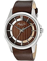 Men's 'Transparency' Quartz Stainless Steel and Brown Leather Dress Watch (Model: 10022289)