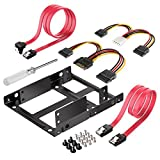 #8: Inateck 2x 2.5 Inch SSD to 3.5 Inch Internal Hard Disk Drive Mounting Kit Bracket (SATA Data Cables and Power Cables included) (ST1002S)