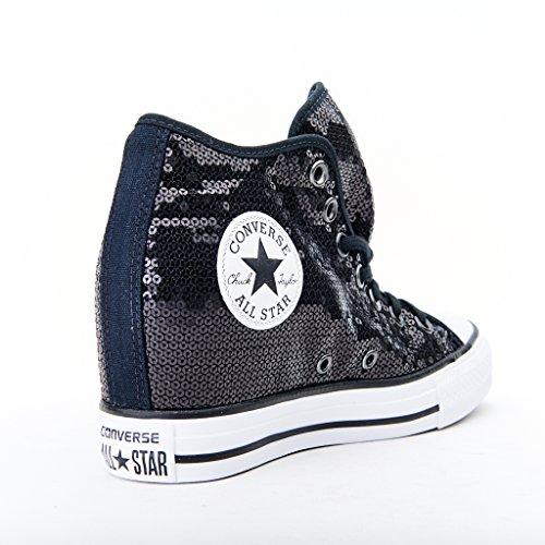 CONVERSE C.T. All Star Lux Mid sneakers zeppa TESSUTO BLACK WHITE NERO 556782C