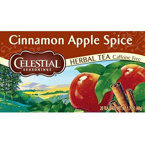 Celestial Seasonings Herbal Tea, Cinnamon Apple Spice, 20 Count (Pack of -