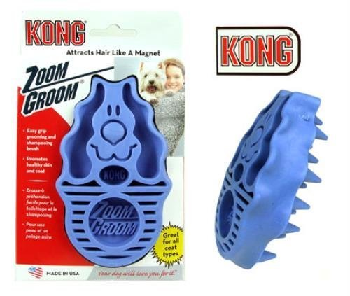 KONG Zoom Groom Multi-Use Dog Brush Pink