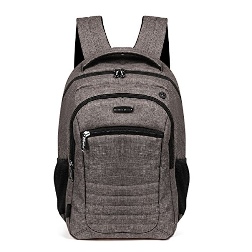 Advocator 15.6Inch Business College School Multi-functional Ipad Laptop Computer PC Mcbook with Pink Fluffy Ipad Interlayer Backpack Rucksack Packsacks Shoulders Bags Mochilas fit for Women Men-GREY