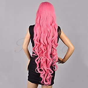 "Kamo 40"" Vocaloid Megurine Luka Curly Cosplay Wig"