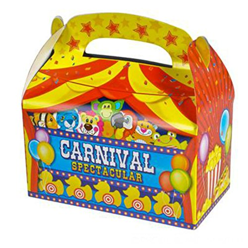 Party Favor Carnival Treat Boxes (Pack of 12) - Play Kreative TM (Carnival Treats)