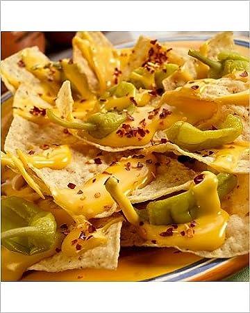 Diseño de Nachos con Pepperoncinis de queso y botes para salsa para llevar: Amazon.es: Hogar