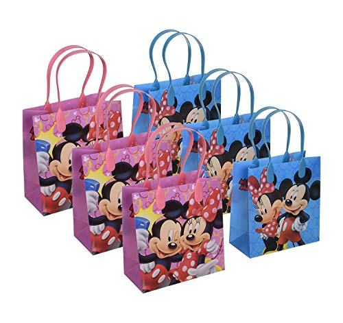 6pcs Mickey Minnie Mouse Gift Bag Birthday Party Favor Goodie Gift Candy Loot Bags]()