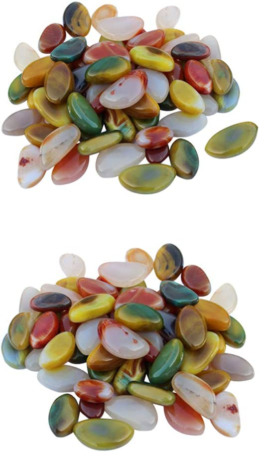 Bougeoir de 2 mm /à 4 mm HOBI Lot de 800 GR de Gravillons d/écoratif color/é Ivoire pour D/éco de Table Vase