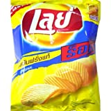Lays Potato Chip Crispy Snack - Flat Salt size 77g