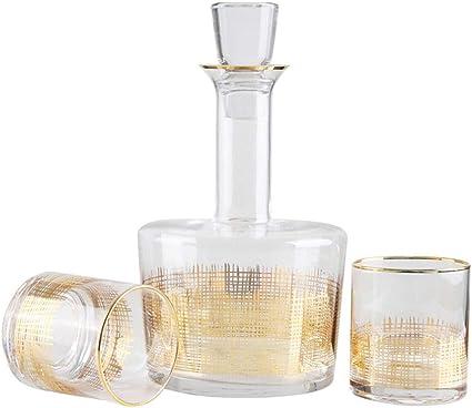 Compra GXLXY Jarra de Whisky de 3 Piezas, Jarra de Cristal ...
