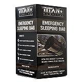 TITAN Extra-Thick Emergency Mylar Sleeping Bag, Dark-Earth (28-000001)