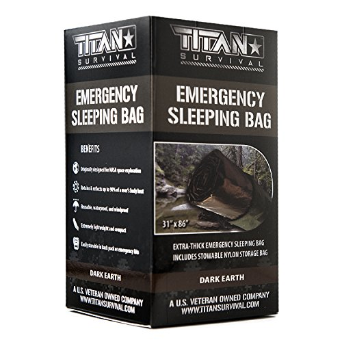TITAN Extra-Thick Emergency Mylar Sleeping Bag