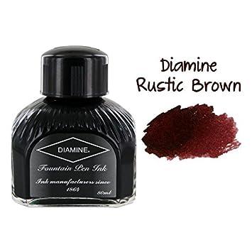 amazon com diamine fountain pen ink 80 ml bottle rustic brown
