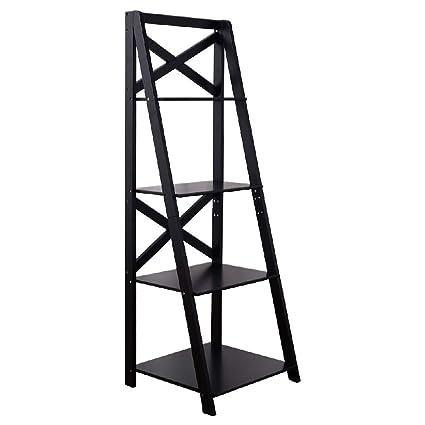 Storage Office Shelf Tiered Bookshelf Tier Ladder Bookcase
