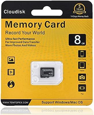 Cloudisk Tarjeta de Memoria Micro SD de 8 GB para Smartphones y ...