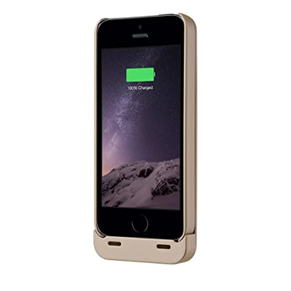 iPhone 5S Battery Case, iPhone 5 Battery Case - Boostcase Detachable  Battery Case for iPhone SE [MFI Certified] [Gold]