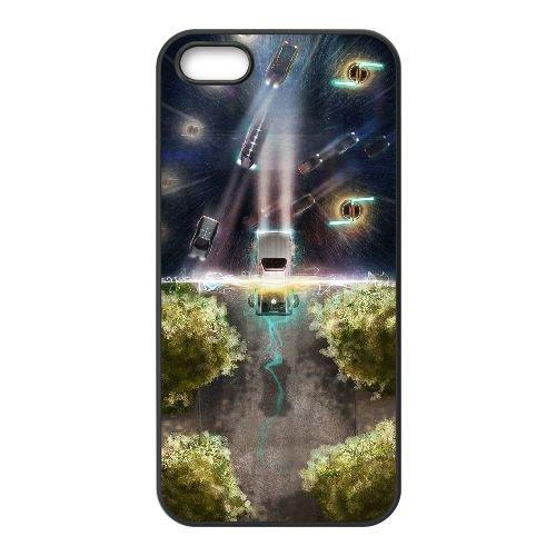 Back To The Future coque iPhone 4 4S Housse téléphone Noir de couverture de cas coque EBDOBCKCO11077