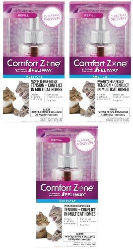Comfort Zone With Feliway MultiCat Refills 3 Pack (Zone Comfort Feliway Refill Farnam)