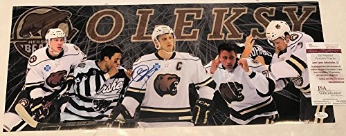 Autographed Steve Oleksy Signed Hershey Bears 24X10 Panoramic Photo - JSA Certified