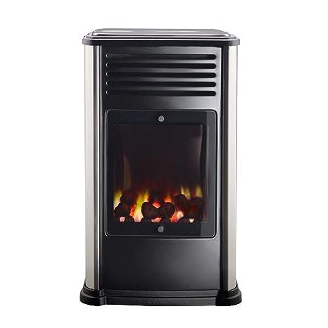 Fireside Estufa portátil a Gas Manhattan Metalizado 3,4 kW ...
