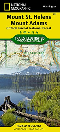 Forest Maps - Mount St. Helens, Mount Adams [Gifford Pinchot National Forest] (National Geographic Trails Illustrated Map)