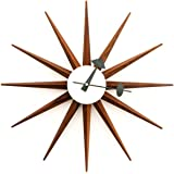 Kardiel George Nelson Sunburst Clock, Real Walnut