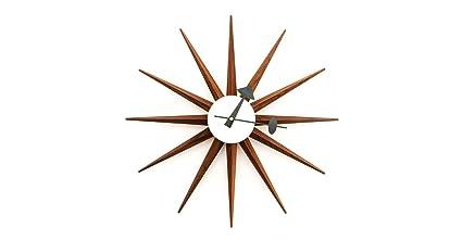 george nelson Kardiel George Nelson Sunburst Clock Real Walnut