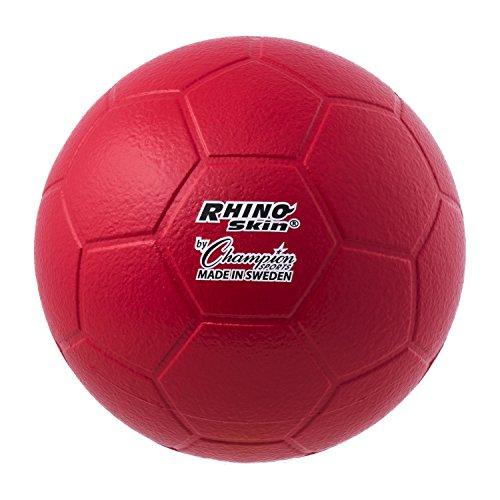 Champion Sports Rhino Skin Molded Foam Size 4 Soccer Ball, Red ()