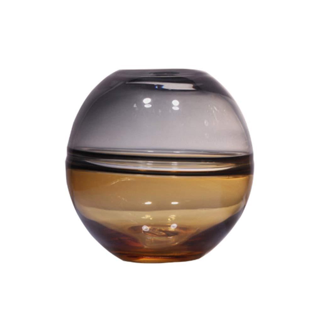クリエイティブ花瓶、ガラス多機能ホームデコレーションリビングルームレストラン寝室ホテルテレビキャビネットベッドサイドテーブル花瓶17 * 23センチ (サイズ さいず : 15*17CM) B07QS31R2H  15*17CM