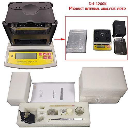 (Digital Electronic Gold Density Meter Gold Purity Tester Gold Purity Analyser Gold Karat Measuring Device Densimeter Precious Metal Tester 1200g Digital Electronic Gold and Silver Testing Machine)