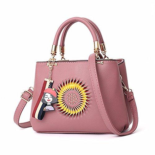 Rosado CCZUIML Bag Casuales Bolsos Hombro Rojo de inclinadas Moda Bolsas de de Mujer Bolsos BBOZrqwR