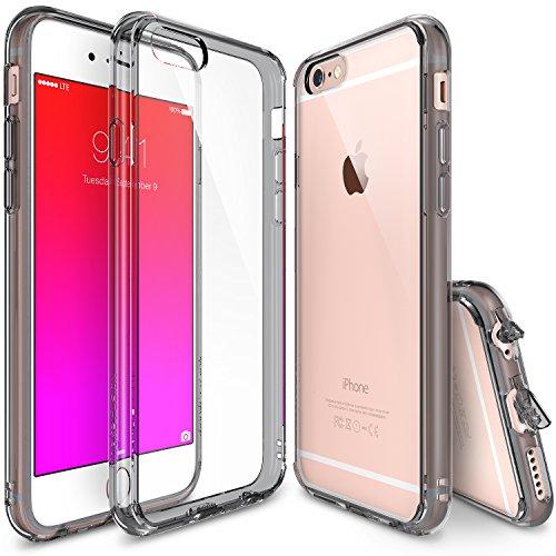 "iPhone 6 Plus Case - Ringke FUSION iPhone 6 Plus Case 5.5 "" **New** [Free HD Film/Dust&Drop Protection][SMOKE BLACK] iPhone 6 Plus Case Shock Absorption Bumper Premium Hard Case for Apple iPhone 6 Plu"