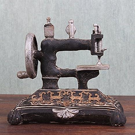YYY-Ornamentos decorativos Vintage resina artes escaparate de tienda de accesorios de fotografía de modelo de máquina de coser antigua , picture color ...