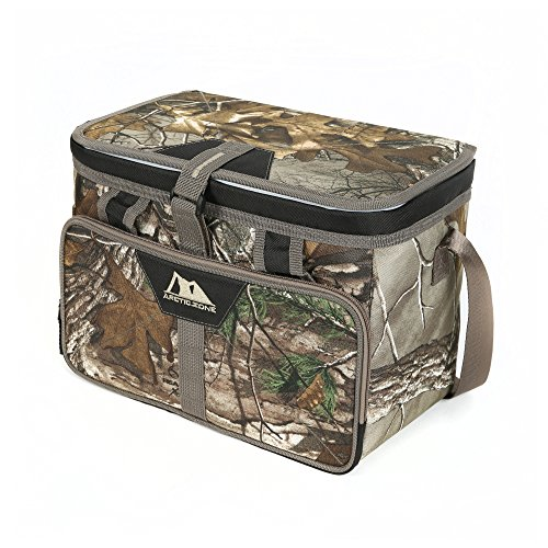 Camo Cooler Bag - Arctic Zone Realtree 12 Can Zipperless Cooler with HardBody Liner