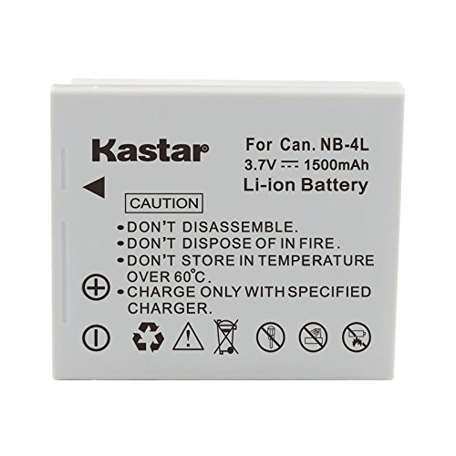 Kastar NB-4L NB4L Compatible Li-Ion Battery Pack for Canon PowerShot SD1400 IS / Digital IXUS 130 IS / Digital IXY 400F Cameras ()