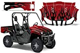 2004-2013 Yamaha Rhino 450/660/700 AMRRACING SXS Graphics Decal Kit:Diamond Flame-Black-Red