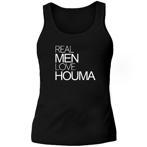 Idakoos Real men love Houma – US Città – Canotta Donna