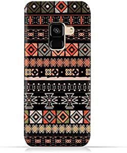 Compatible with Samsung Galaxy A8 Plus 2018 TPU Silicone Case with Ethnic Boho Seemless Pattern Design