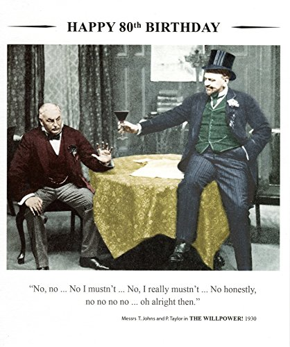 (Drama Queen Happy 80Th Birthday Greeting Card Square Retro Humour Cards)