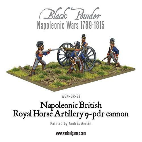 (Black Powder Napoleonic British Royal Horse Artillery 9pdr Cannon )