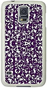 Purple Dutch Baroque Pattern Samsung Galaxy S5 Case with White Skin