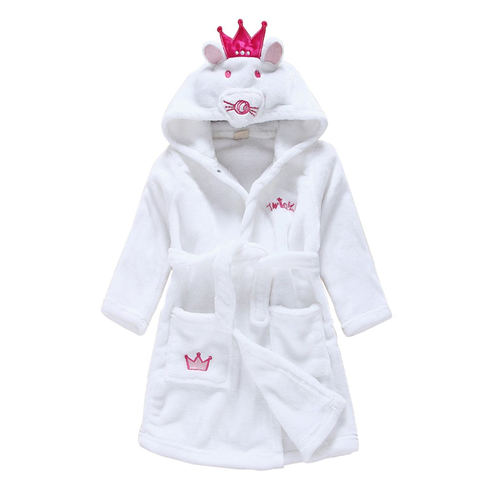 Vine Child Bathrobe Hooded Pajamas 3D Cartoon Animal Towel For Boys Girls Sleepwear Vine Trading Co. Ltd B161010YP0059V