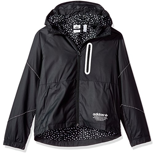 adidas Originals Outerwear Big Boys' Kids Nmd Windbreaker, Black/White, X-Small ()