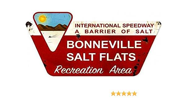 VINTAGE STYLE METAL SIGN Bonneville Salt Flats  12 x 18