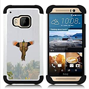 - bird flying spring hunting nature wings - - Doble capa caja de la armadura Defender FOR HTC ONE M9 RetroCandy