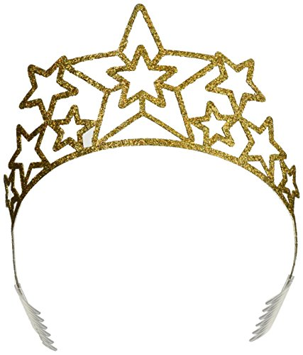 Beistle 60639 Glittered Metal Star Tiara - Star En Costume